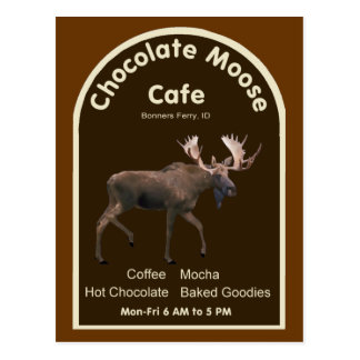 Chocolate Moose Cafe Postcard