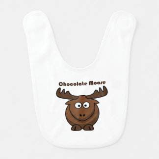 Chocolate Moose Cartoon Bib