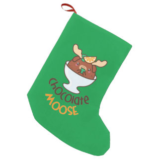Chocolate Moose Mousse Small Christmas Stocking