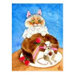 Chocolate Mouse Cake Postcard