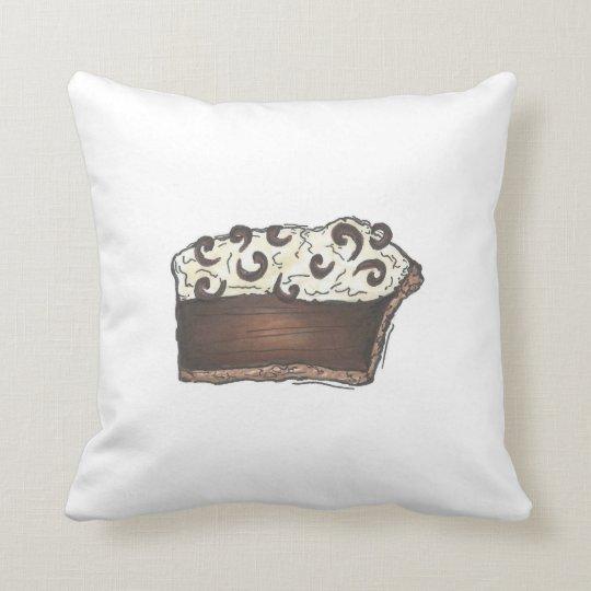 Chocolate Mousse Cream Pie Slice Dessert Pillow