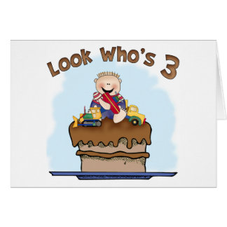 Chocolate Mud 3rd Birthday Invitation Note Card