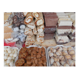 Chocolate, Nougat, Cookies, Sweets Postcard