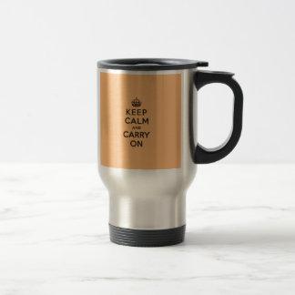 Chocolate Orange Keep Calm and Carry On Travel Mug