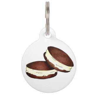 Chocolate PA Dutch Whoopie Pie Pies Foodie Dog Tag