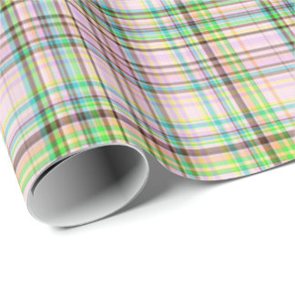 Chocolate Pastels Plaid 07-Gift Wrapping Paper