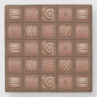 Chocolate Pattern Stone Coaster