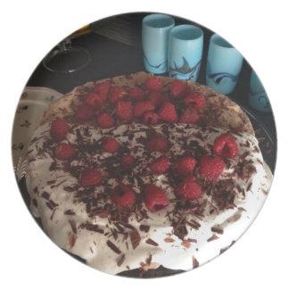 Chocolate Pavlova Dinner Plate
