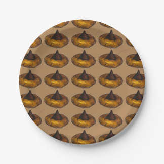 Chocolate Peanut Butter Cookie Bake Sale Plates 7 Inch Paper Plate