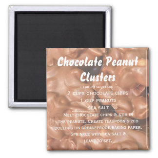 Chocolate Peanut Cluster Recipe Magnet