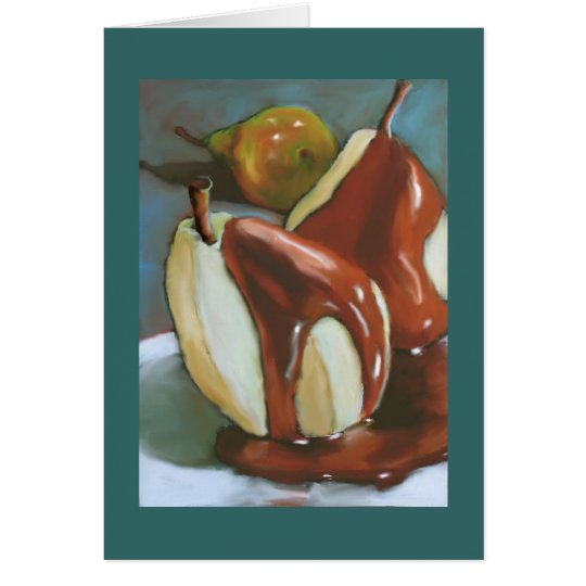 Chocolate Pears: Happy Anniversary To Sweet Pair Card