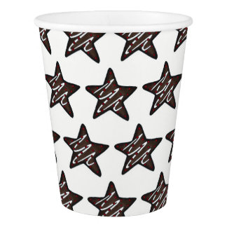 Chocolate Peppermint Star Christmas Holiday Cookie Paper Cup
