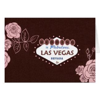 CHOCOLATE PINK ROSE LAS VEGAS WEDDING Card