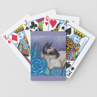 Chocolate Point Siamese  Cat Bicycle Playing Cards