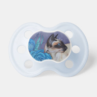 Chocolate Point Siamese  Cat Pacifier