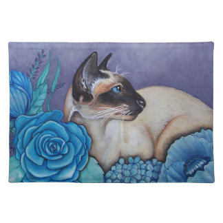 Chocolate Point Siamese Cat Placemat