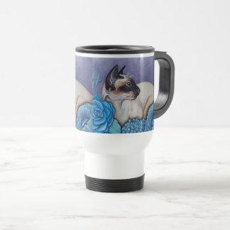 Chocolate Point Siamese Cat Travel Mug