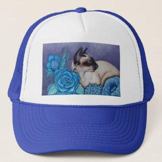 Chocolate Point Siamese  Cat Trucker Hat