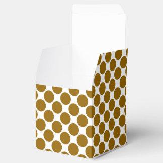 Chocolate Polka Dot Favor Box