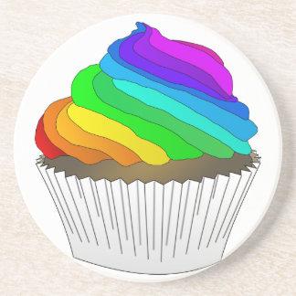 Chocolate Rainbow Cupcake Coaster