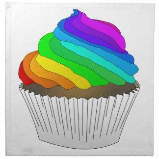 Chocolate Rainbow Cupcake Napkin
