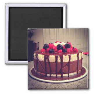 Chocolate Raspberry Cake Magnet