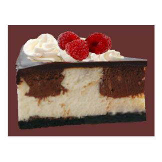 Chocolate Raspberry Cheesecake Postcard