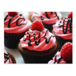 Chocolate Raspberry Cupcake Postcard