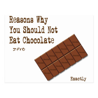 chocolate reasons postcard