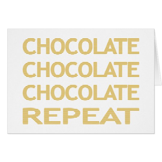 Chocolate repeat - strips - beige. card