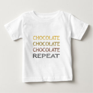 Chocolate repeat - strips - brown and beige. baby T-Shirt