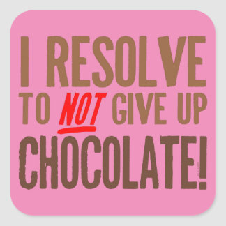 Chocolate Resolution Square Sticker