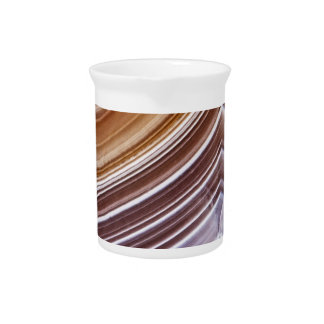 Chocolate Ribbons Agate Beverage Pitcher