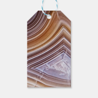 Chocolate Ribbons Agate Gift Tags