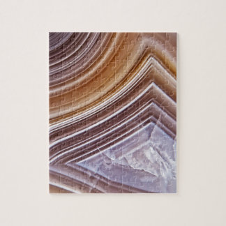 Chocolate Ribbons Agate Jigsaw Puzzle