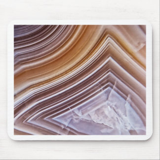 Chocolate Ribbons Agate Mouse Pad