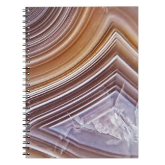 Chocolate Ribbons Agate Notebooks