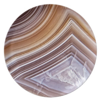 Chocolate Ribbons Agate Plate
