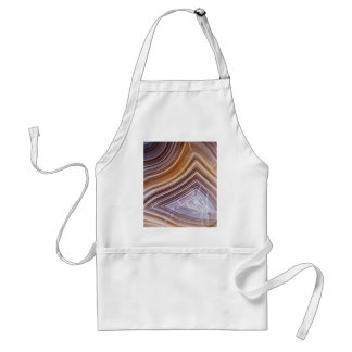 Chocolate Ribbons Agate Standard Apron