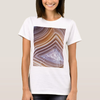 Chocolate Ribbons Agate T-Shirt