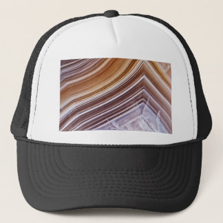 Chocolate Ribbons Agate Trucker Hat