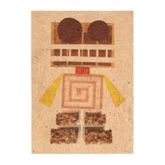 Chocolate Robot Cork Canvas Cork Fabric