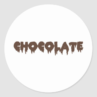 Chocolate - Rocky Horror Style Round Sticker