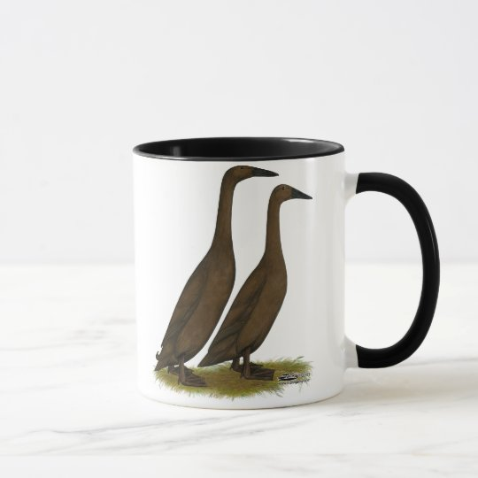 Chocolate Runner Ducks Mug
