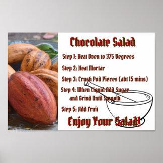 Chocolate Salad Recipe Sign