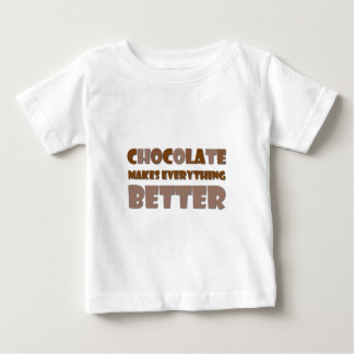 Chocolate Saying Baby T-Shirt