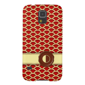 Chocolate Shop Monogram - Cherry Scallops - O Case For Galaxy S5