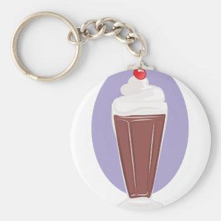 Chocolate Soda Basic Round Button Keychain