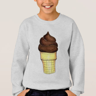 Chocolate Soft Serve Ice Cream Cone Sweatshirt