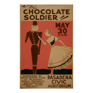 Chocolate Soldier Vintage WPA Poster